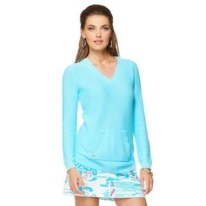 Lilly Pulitzer Seaside Sweater Pullover Blue Sz L