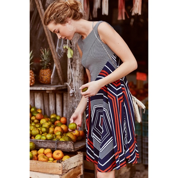 f5dbfc0852a Anthropologie Dresses   Skirts - Maeve Anthropologie Small Striped Cameron  Dress