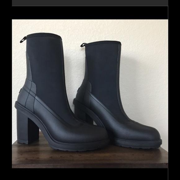 sports shoes 717d0 6bb99 NWOT Hunter High Heel Sock Boot