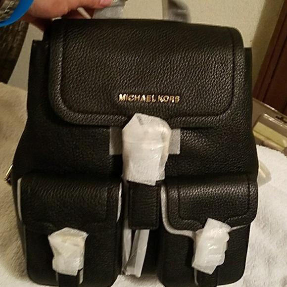 d522d407ec Michael Kors Bags | Nwt Susie Black Leather Backpack | Poshmark