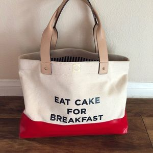 RARE Kate Spade Eat Cake for Breakfast Tote
