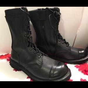 Tactical Genuine Leather captoe boot not steel toe