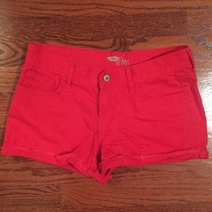 Old Navy Women's Bright Red Jean Shorts (Size 4)