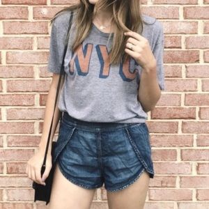 forever 21 tulip denim color shorts
