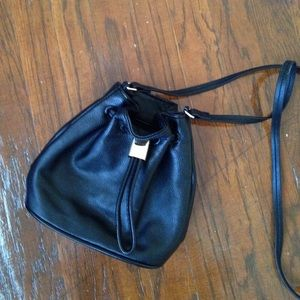 H&M Faux Leather Drawstring Crossbody