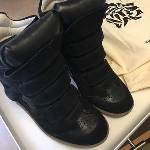 Isabel Marant black suede sneakers size 36