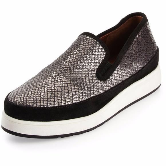 2b324bb8d9f Donald J. Pliner Shoes - Donald J. Pilner Mickey Gray Snakeskin Slip Ons