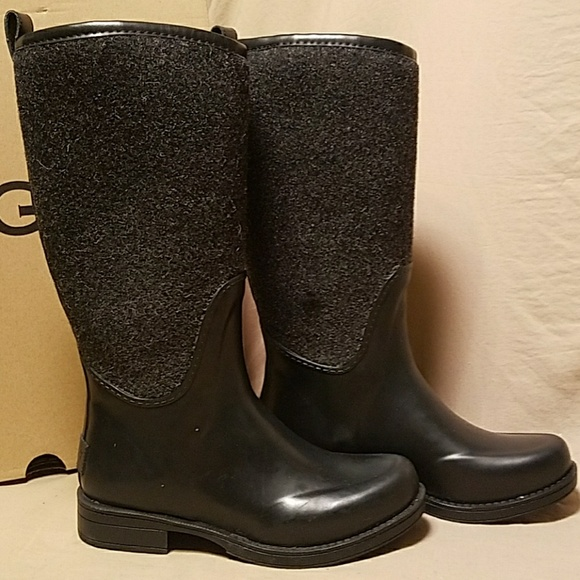 1333a83ea44 UGG Reignfall black tall boots size 5 NWT