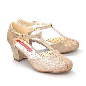 BAIT Robbie Gold Glitter Heels