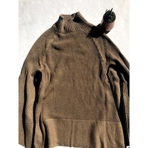 David And Young Brown Poncho- One Size Fits Most