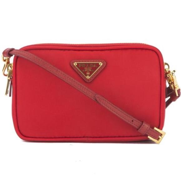 1a08df9cad414a Prada Bags | Red Tessuto Nylon Camera Bag Brand New | Poshmark