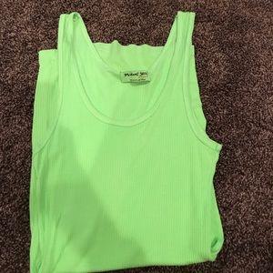 Neon green Michael stars tank top