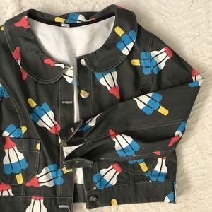 Jackets & Blazers - Rocket Pop Peter Pan Collar Jacket