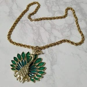 Vintage Peacock Necklace