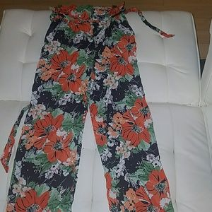 Zara Highwaisted Floral Print Trousers