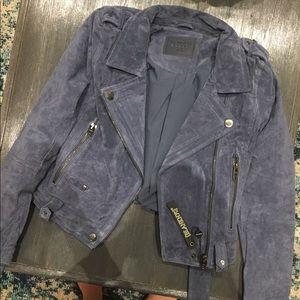 BlankNYC Suede Jacket size XS Slate Blue NWT