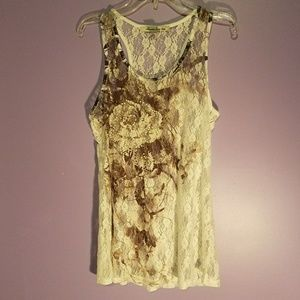 Super Cute Lace Flower Tank Top