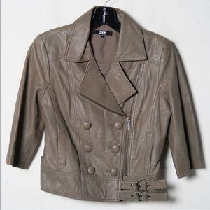 FINAL ⬇️NWOT ASOS Leather 3/4 Sleeve Moto Jacket