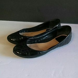 Dior Women's Black Leather Flats size 38BX8