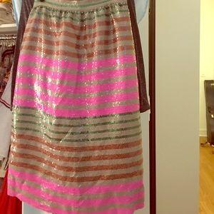 J.crew Collection sequin midi skirt