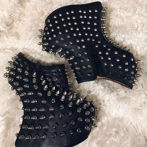 Jeffrey Campbell Spiked leather wedge heels