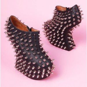 Jeffrey Campbell Spiked leather wedges