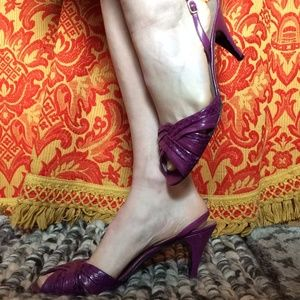 Bruno Magli Shoes - LAST CHANCE BRUNO MAGALI Leather Purple Heels