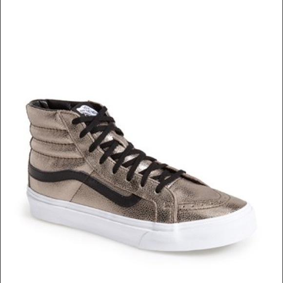 Vans Shoes   Vans Sk8 Hi Gold High Top