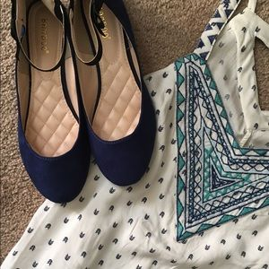 Bamboo blue flats with side bow!
