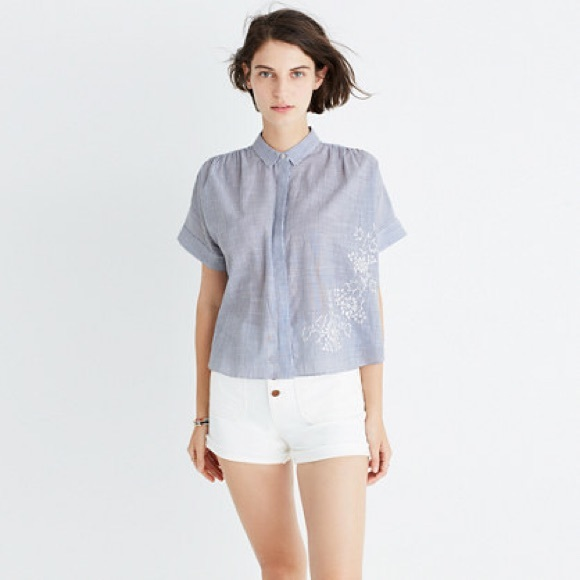 9238c19382f Madewell Tops - Madewell Embroidered Hilltop Shirt