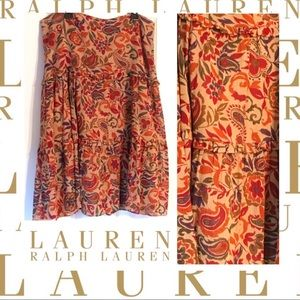 LAUREN by Ralph Lauren tiered midi skirt