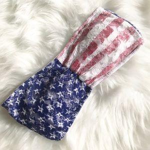 Other - 🇺🇸 NWOT Patriotic Lace Bandeau