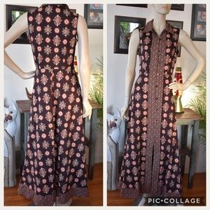 Moda Button Front Sleeveless Maxi Dress 6 Boho