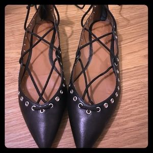 Zara Shoes - Zara Lace up flats