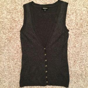 Grey BEBE vest size xs