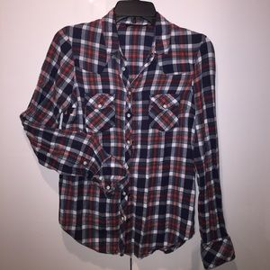 TOPSHOP WESTERN STYLE FLANNEL SHIRT
