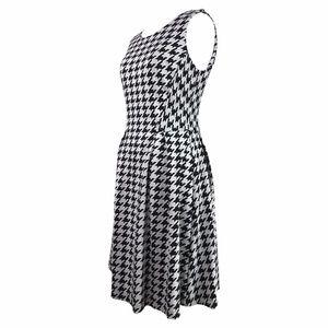 Bar III Dresses - Bar III Houndstooth Flared Dress