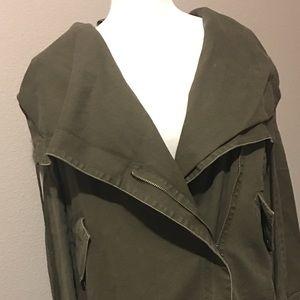 Olive Utility Hooded Jacket