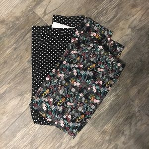 H&M slacks bundle- floral and polka dot