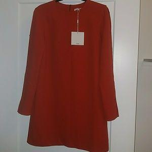 TIBI RED CREPE DRESS