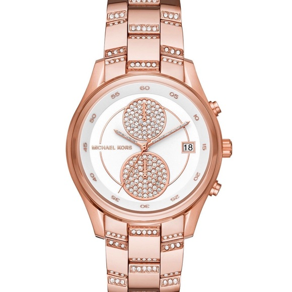 Michael Kors Accessories - Michael Kors rose gold briar pave crystals watch