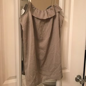 J. Crew new without tags grey ruffle tank!
