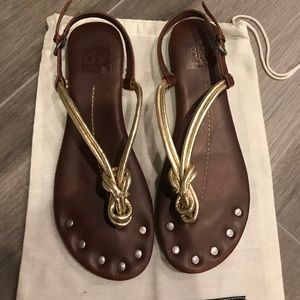 dolce vita Gold Knots Sandals - Size 7