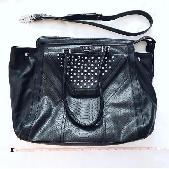 Guess Handbags - 🖤💙 G U E S S Black Studded Satchel Crossbody Bag ced0754797ad2