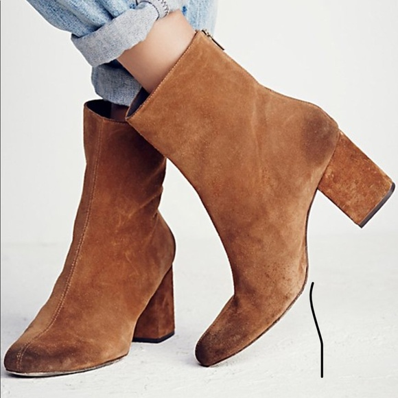 People Cecile Ankle Boot Brown Suede