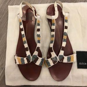 dolce vita Boho Beaded Sandals - Size 7