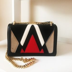 Color blocked mini cross body bag