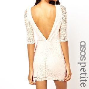 ASOS Lace Mini Dress with Twist Back
