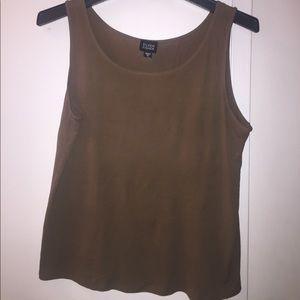 Eileen Fisher Olive Green Silk Camisole