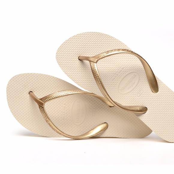 8b9d9acd598 Havaianas Shoes - Havaianas High Light Sandals Beige